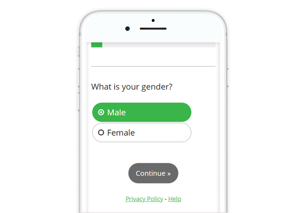 Guide to Designing Mobile Surveys Single select button select