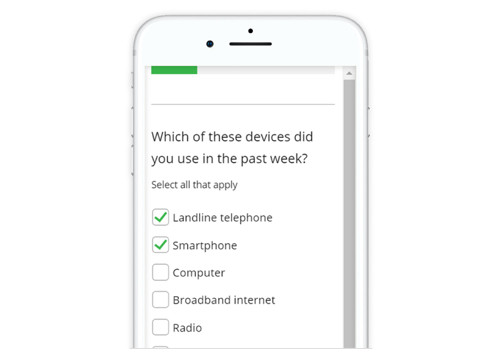 Guide to Designing Mobile Surveys Multi select check box