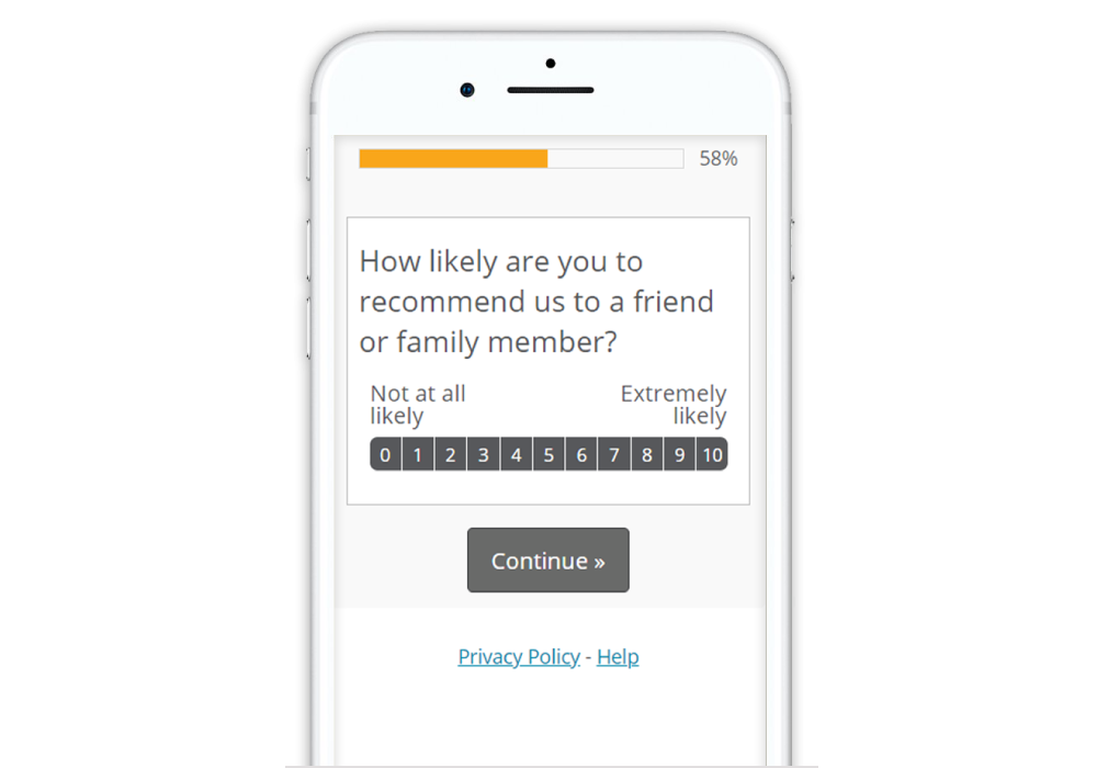 Guide to Designing Mobile Surveys Button select with end point labels